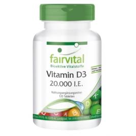 Vitamina D3 20000 I.E. - 120 Pastillas - 83512