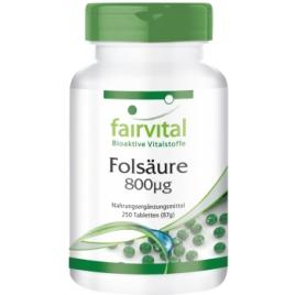 Ácido fólico 800µg - 250 pastillas - 83725