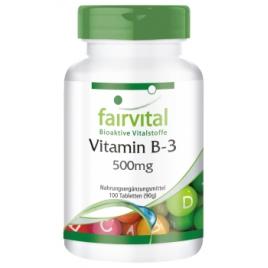 Vitamina B3 Niacina 500mg - 100 Pastillas - 90210