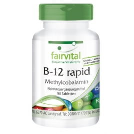 B12 de absorción rápida - 90 Pastillas sublinguale