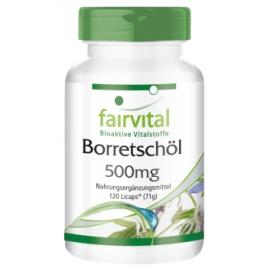 Aceite de borraja 500 mg - 120 Licaps