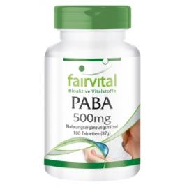 PABA 500mg - Vitamina B-10 - 100 Pastillas