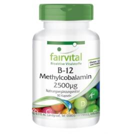 B12 Metilcobalamina 2500µg - 90 Cápsulas