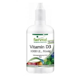 Vitamina D3 líquida- 1000 I.E. por gota - 50ml