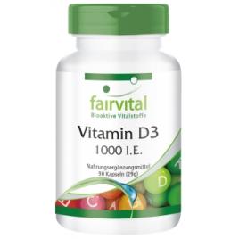 Vitamina D3 1000 I.E. - 90 Cápsulas