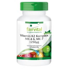 Complejo de Vitamina K2 MK-4 & MK-7 1250µg -120cap