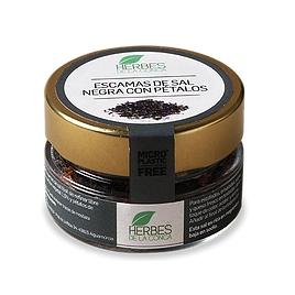Escamas de sal negra con pétalos -ECO-
