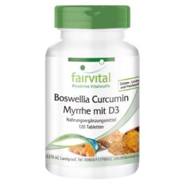 Boswellia Curcumina Mirra con D3 - 120 comprimidos